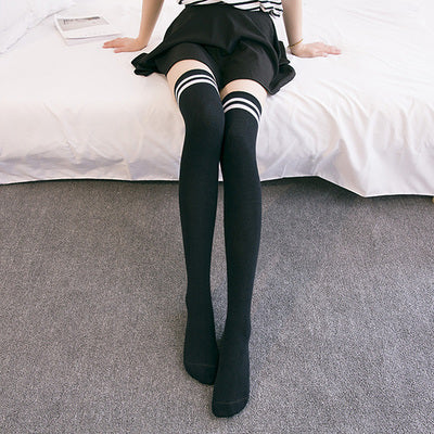 Cotton knee socks YV40080