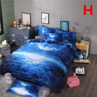 3D star galaxy sheets four-piece set YV2493