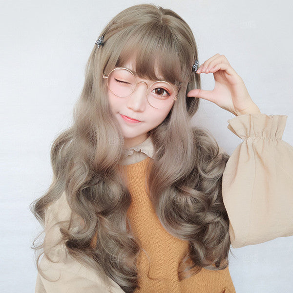 Cute big wave long roll wig YV40380