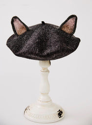 Cute dark gray cat ears berets  YV2407