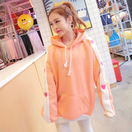 Sweet love loose hood hooded sweater YV2478