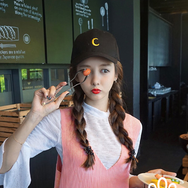 soft girl moon duck tongue shade baseball cap YV16008