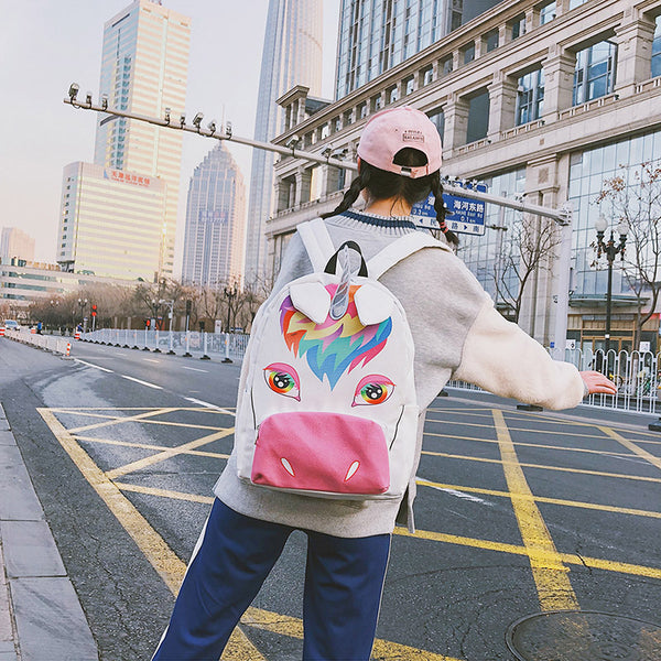 Cute Unicorn Cartoon Backpack yv42290