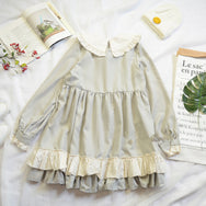 Japanese lolita ruffled dress YV40497