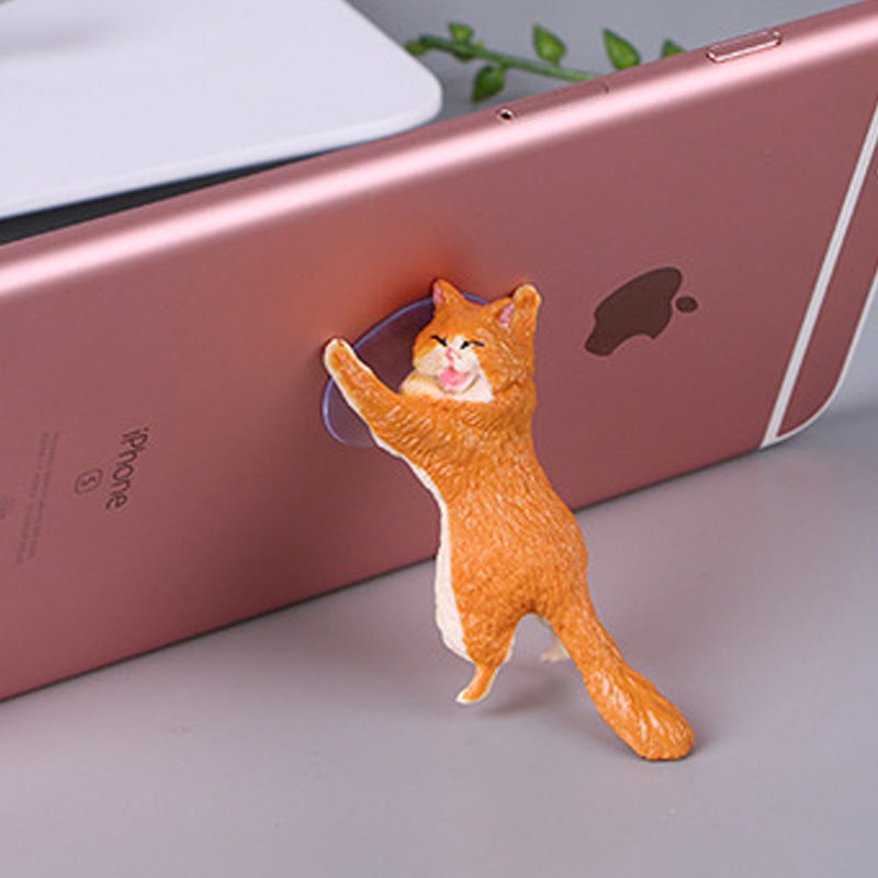 Cute cat sucker phone holder YV40385