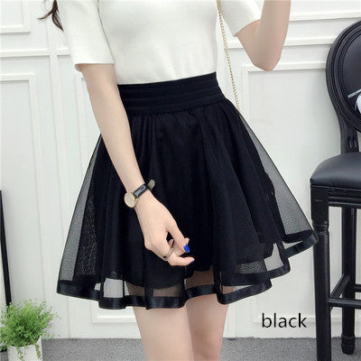 Fashion silk yarn pleated skirt YV573