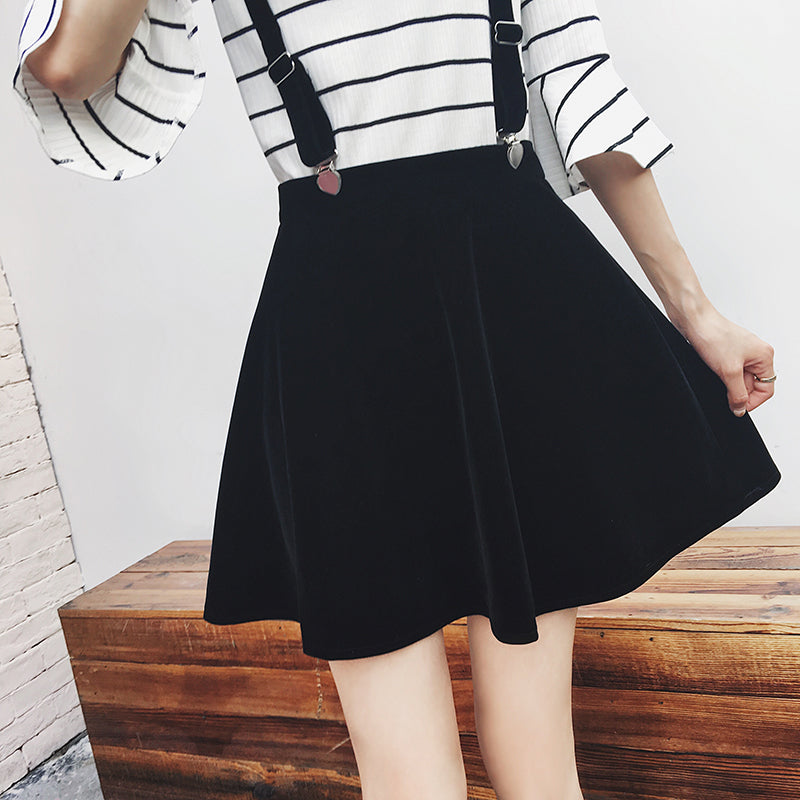 Black braces skirt  YV481