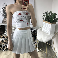 High waist was thin pleated skirt YV40027