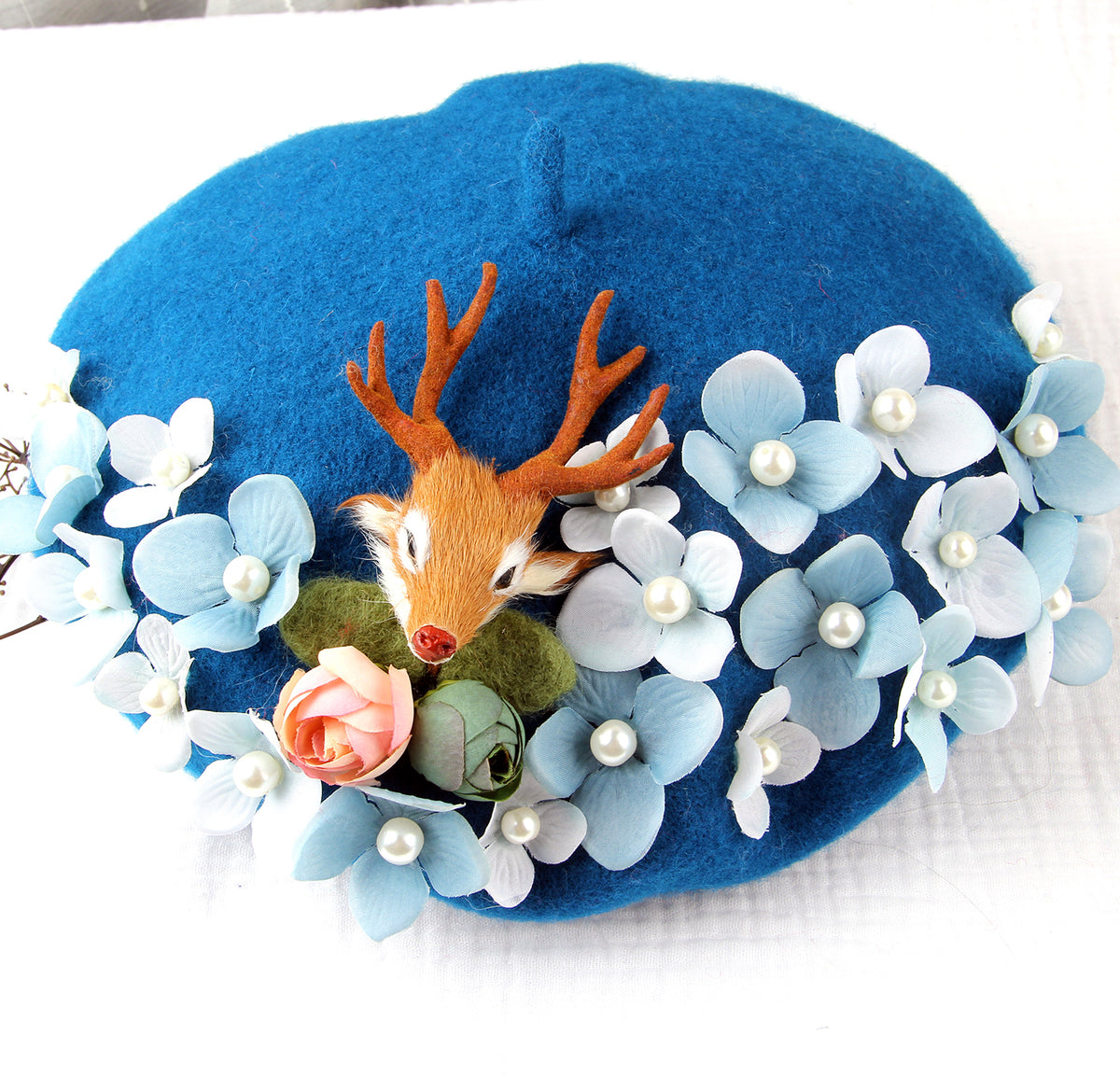 Korean deer flower beret yv40698