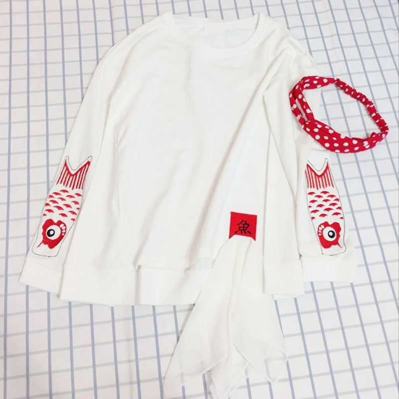 Japanese carp sweater yv5058