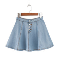 Ruffled jeans pleated skirt YV40120