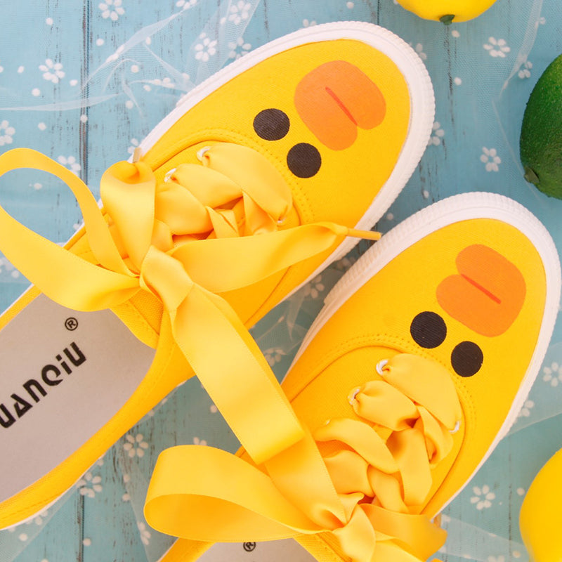 Harajuku ulzzang yellow canvas shoes yv42279