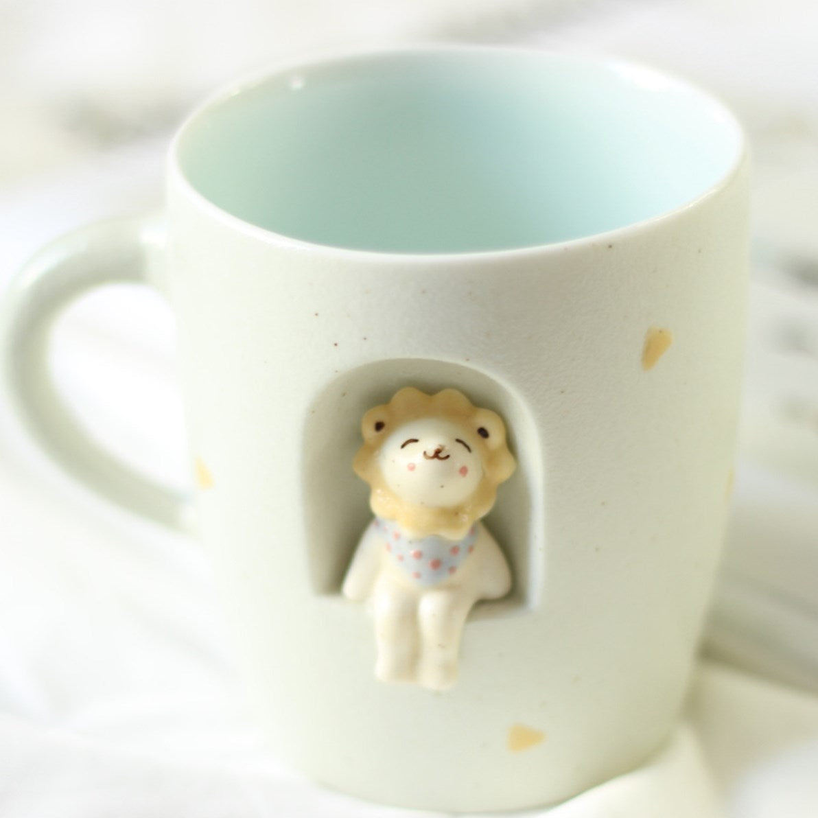 Creative hand-painted 3D cup-glass mug with ceramic mug Cup YV5133