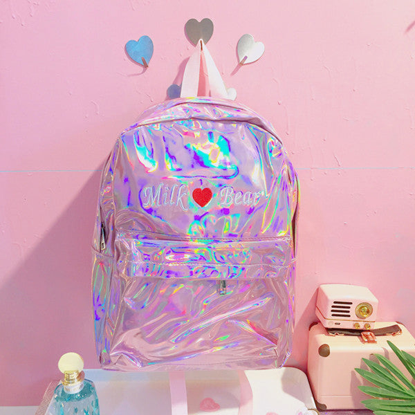 Embroidered Heart Laser Backpack yv42046
