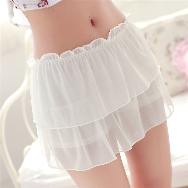 Lace mesh shorts YV2392
