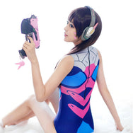 D.VA Blue Cartoon One-Piece Swimwear  YV1303