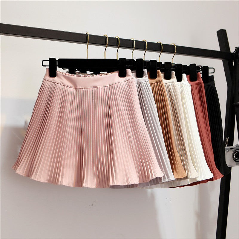 High waist chiffon pleated skirt YV424