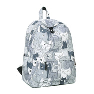 Grey Winner Cats Galore Backpack  YV1175