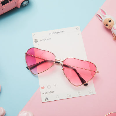 Cute pink heart-shaped glasses YV40851