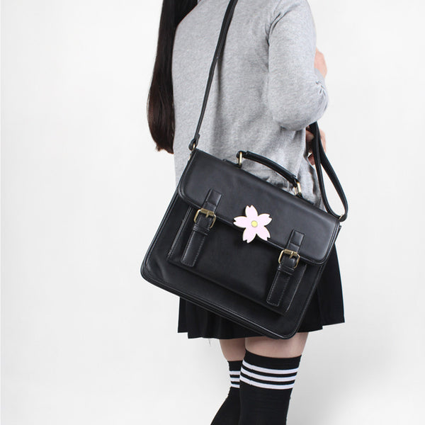 Black/Brown Sakura 3-Way Satchel Bag  YV16086