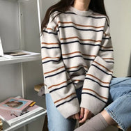 Korean striped sweater yv40688