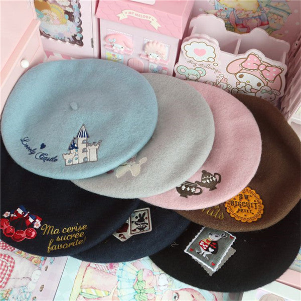 Cute cartoon print beret YV43451