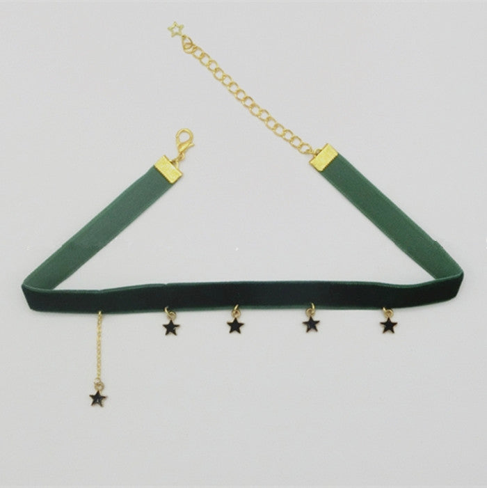 Chic dark green necklace YV40921