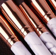 10 PCS makeup brush + marble PU tube YV40248