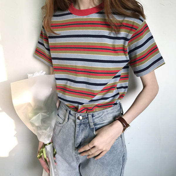 Rainbow striped T-shirt YV40237
