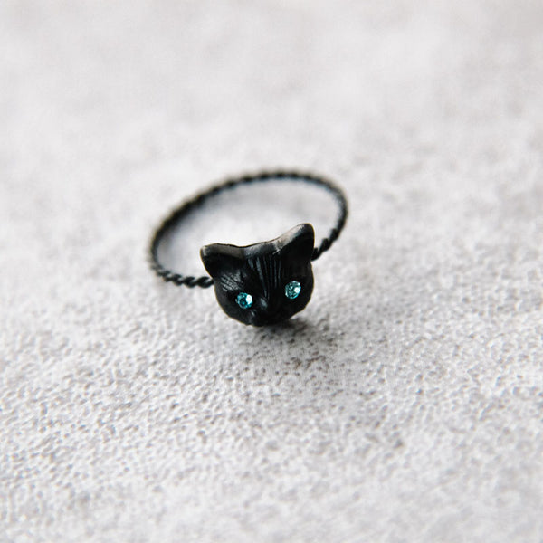 Japanese cute cat ring yv40721
