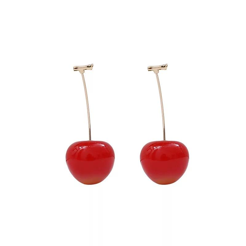Cherry cos simulation earrings(1 pair)yv40566