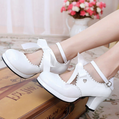 Japanese lolita cute ribbon shoes YV40374