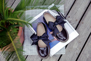 Lolita round head students bow tie doll shoes YV264