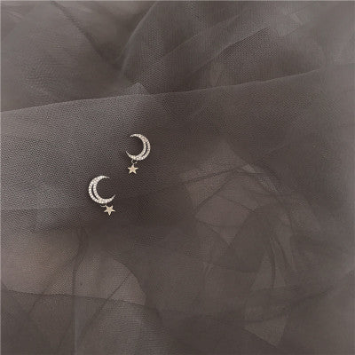 Star Moon and Diamond Earrings YV40832