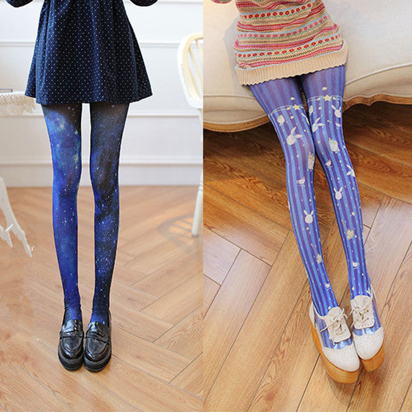 Japanese Star / Rabbit Velvet Stockings YV40767