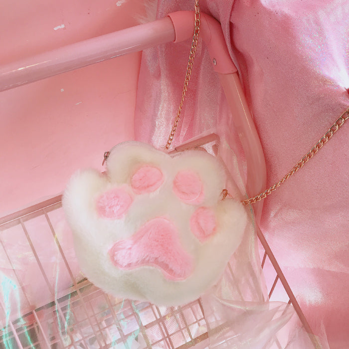 Japanese cute cat claw plush bag YV40392