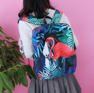 harajuku fashion flamingo/ koala backpack YV7025