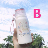 Cute Unicorn Glass Cup YV40233