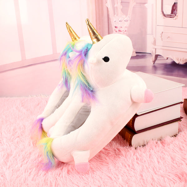 White/Pink/Purple/Blue Cute Fluffy Unicorn Slippers  YV8066