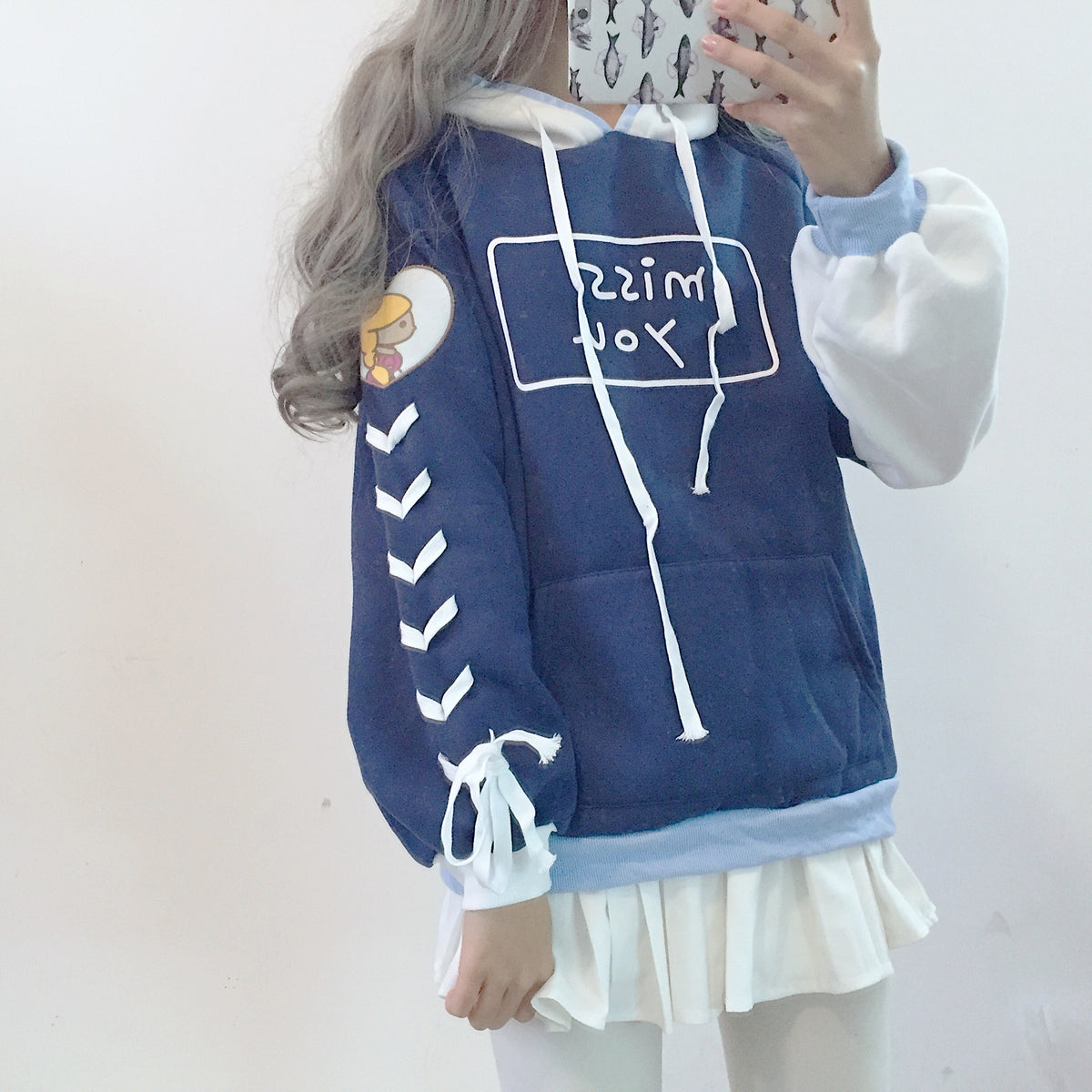 Cute cartoon long-sleeved sweater coat YV405