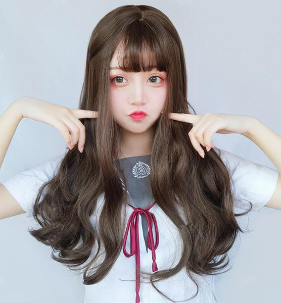 Big wave long roll wig YV40433