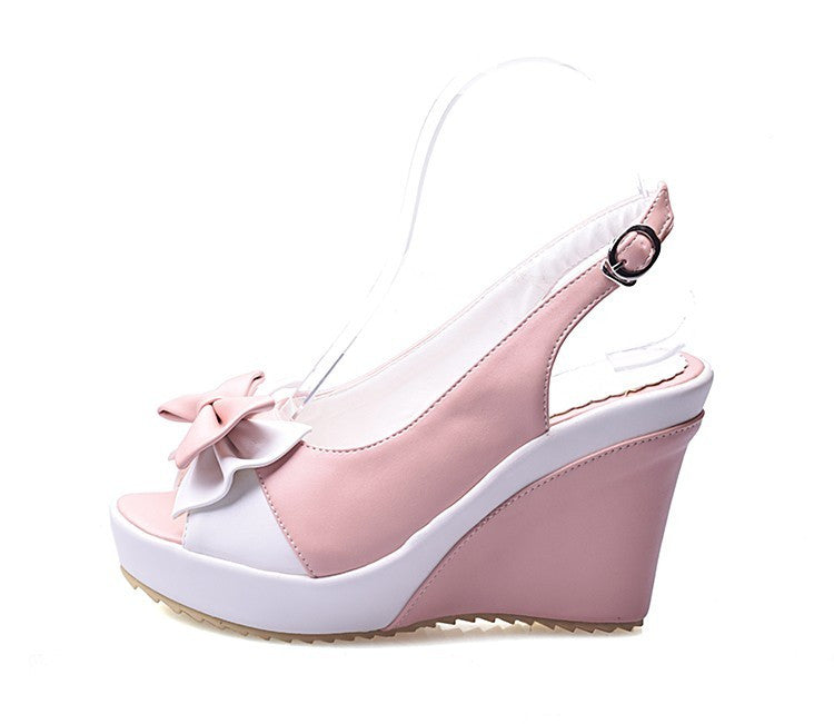 Lovely princess sweet bow-tie Fish mouth high-heeled shoes  YV18002