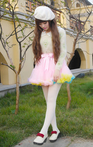 Bowknot hight waist tutu skirt YV281