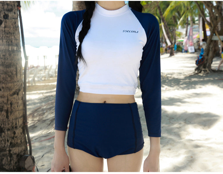 Long Sleeve High Waist Swimsuit YV40019