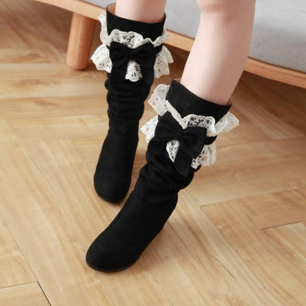 Lolita lace boots more wearing boots yv40828