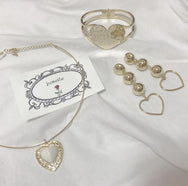 Vintage Heart Ring Necklace YV40879