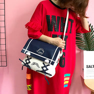 Harajuku Retro Navy Wind Bear Cute Second Shoulder Bag YV15059