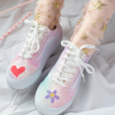 Harajuku style girl hand-painted canvas shoes YV90089