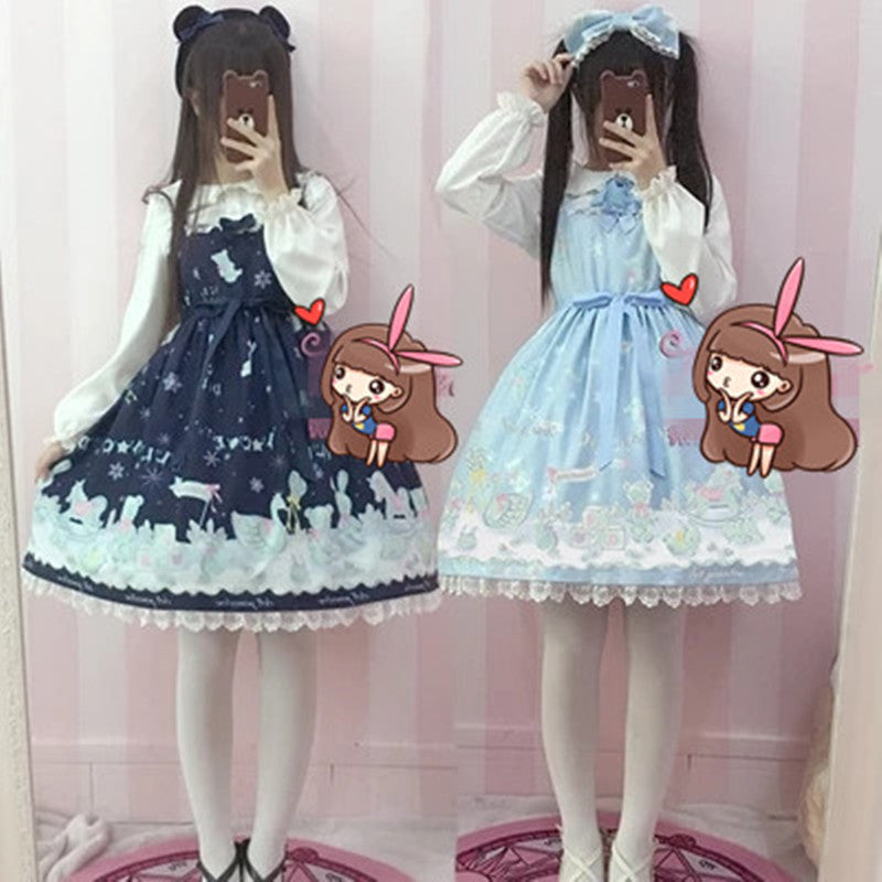 Lolita's daily light sweet JSK suspender dress two-piece suit  YV8073