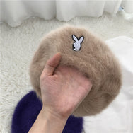 Cute rabbit fur beret yv40661